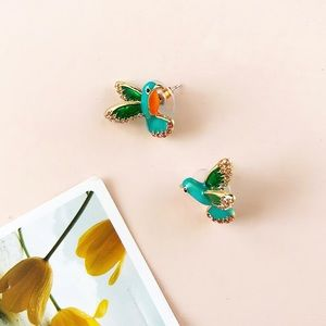 Hummingbird Vintage Style Earrings